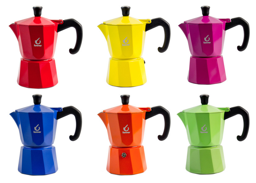 Miss Moka Super Colori 3 Tazze Display - Cod 12 01 24