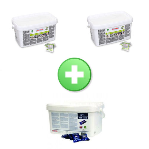 Pack 2 detergente Active Green 56.01.535 Rational + 1 brillantante 56.00.562 Rational