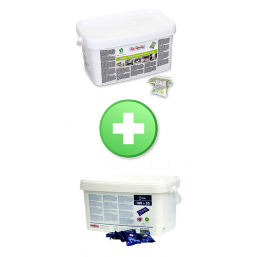 Pack 1 detergente Active Green 56.01.535 + 1 brillantante 56.00.562
