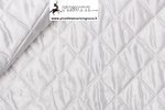 QUILTED LINING FABRIC COL WHITE RHOMBUS DESIGN/ CM 140