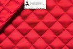 QUILTED LINING COLOR RED - DESIGN CM 3,5X3,5