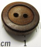 BUTTONS 2 HOLES IN WOOD - DIAMETER MM 16 - PLAIN