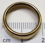 ANELLO IN OTTONE/DORATO - DIAMETRO EST. MM 19,5 - INTERNO MM.15