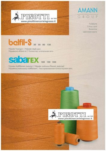 COLOUR CARD AMANN BELFIL - SABATEX THREADS MACHINE