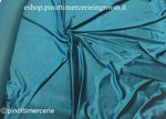VELVET STRETCH FABRIC GREEN EMERALD 60 BY METER/ WIDTH CM 150