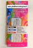 BEADING NEEDLES COLOURED MIX 10/12 - 6 PZ PONY CERTIFIED SA8000